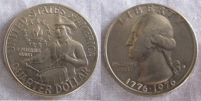 usa quarter dollar bicentennial drummer boy 1976