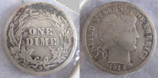 usa one dime ten cents 1914