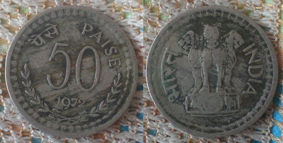 fifty paise 1972