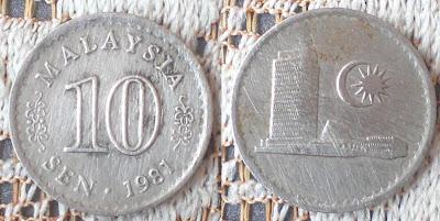 malaysian 10 sen 1981