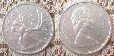 canada 25 cents moose 1975