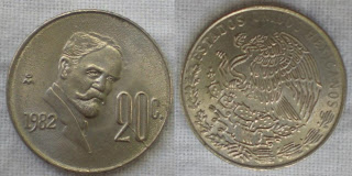 mexico 20 centavo