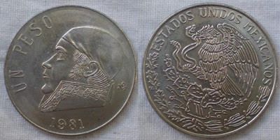 mexico one peso 1981