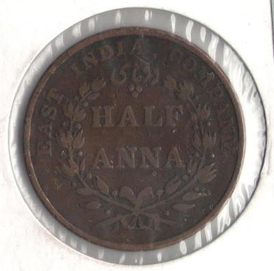 east india company half anna