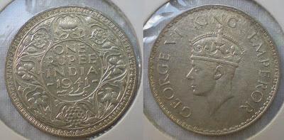 George VI one rupee 1941