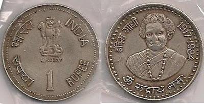 fake indira gandhi 1 rupee rudraksh mala