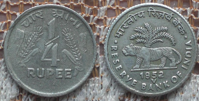 quarter rupee reserve bank of india 1952