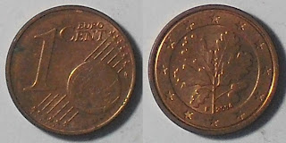 germany euro 1 cent 2004