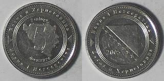 bosnia herzegovina 5 feninga 2005