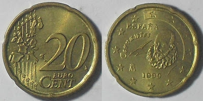 spain euro 20 cents 1999