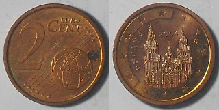 spain euro 2 cent 2004