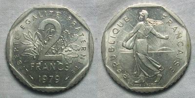 france 2 franc 1979