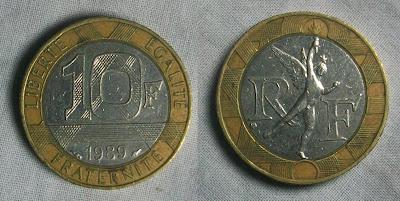 france 10 franc 1989