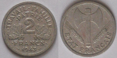 france 2 franc 1943
