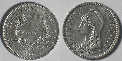 france 1 franc 1992 liberty