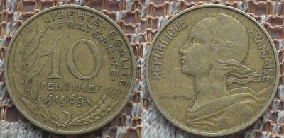france 10 centime 1969