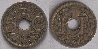 france 5 centimes 1920