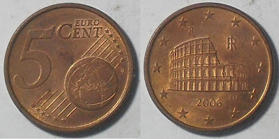 italy euro 5 cent 2006