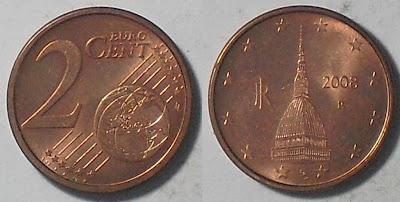 italy euro 2 cent 2008