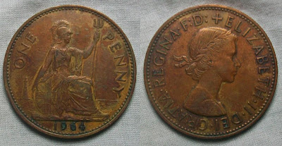 england 1 penny 1964 elizabeth