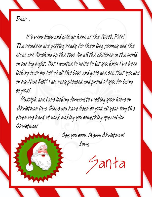 Indigo Chyld Resources Letters and Certificates – Santa Claus Certificate Template