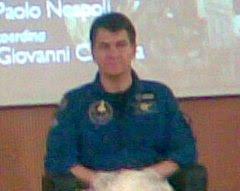 L'astronauta Paolo Nespoli d Milano il 23 novembre 2007