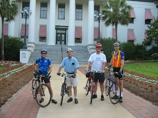 Mike Dunaway, Dwight Kingsbury, Roger Holdener, and Chris Sands rode the Ride Of Silence in Tallahassee.