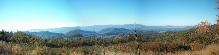 Views from the Blue Ridge Parkway in Virginia