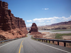 The road into Navajo Country