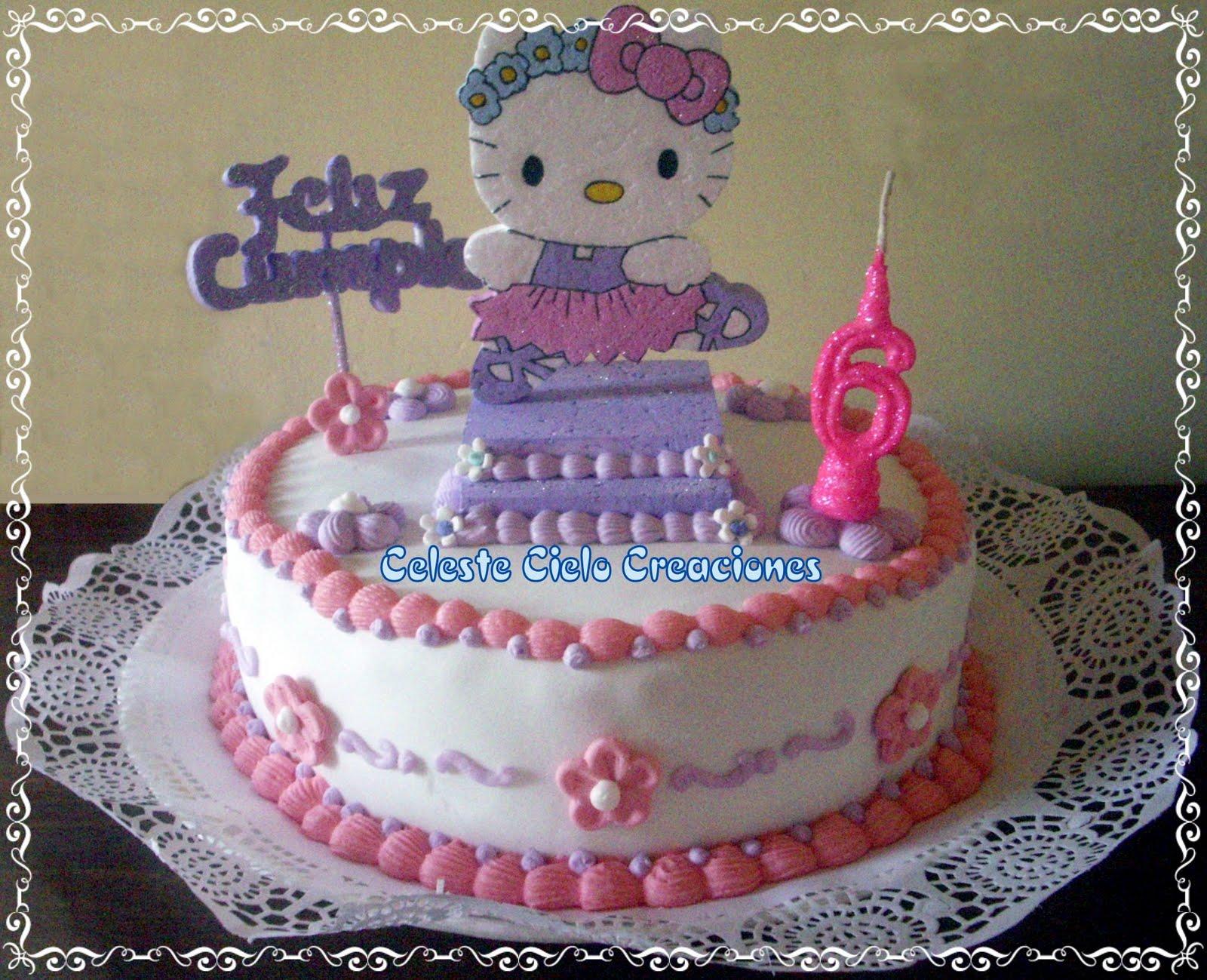 Kitty Decoracion De Tortas ~ Celeste Cielo Creaciones Tortas Decoradas Kitty Bailarina