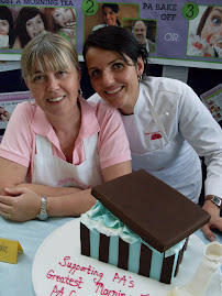 Dominique Rizzo and me! two  very chocolate overdosed judges!