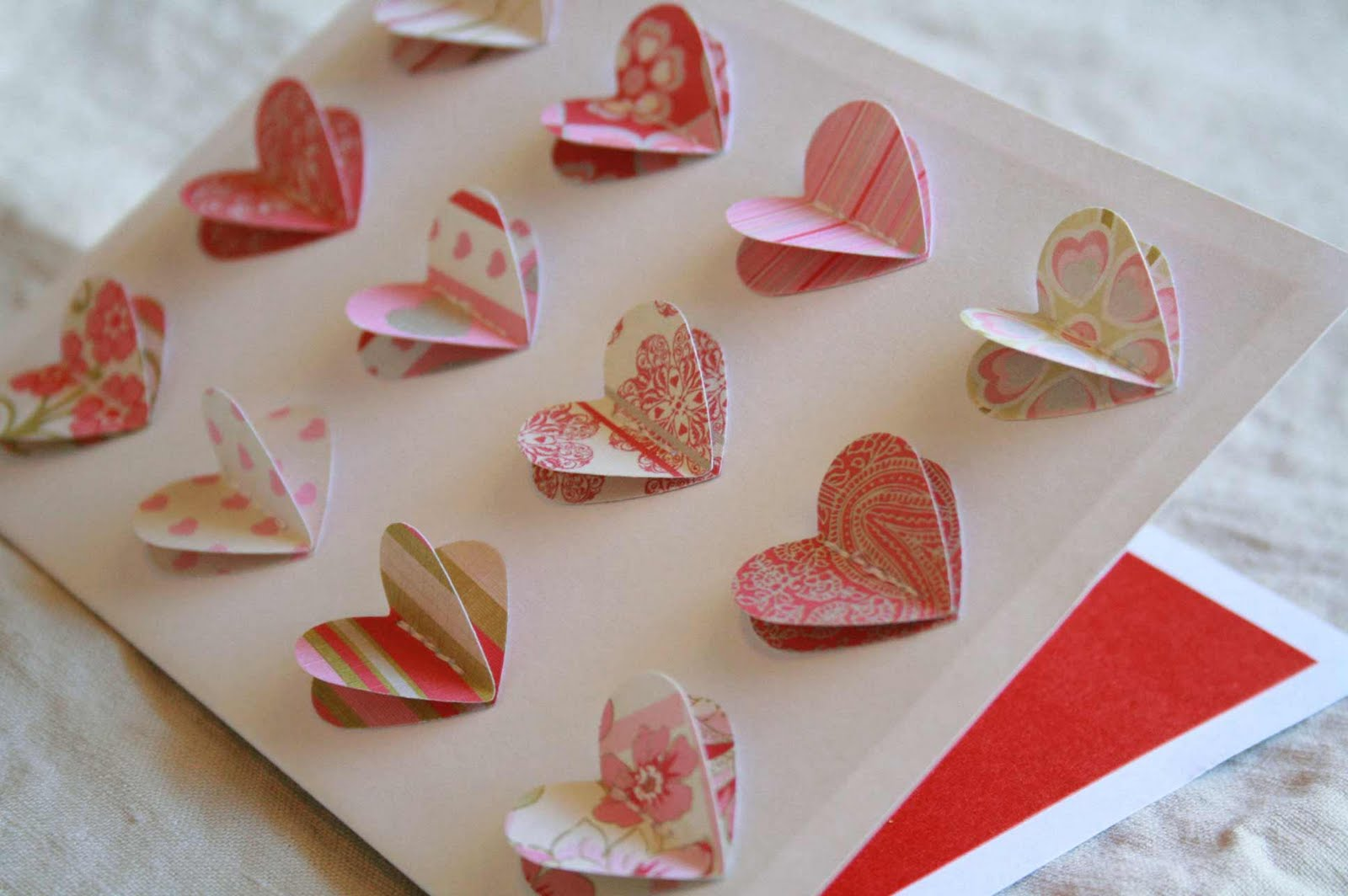 The creative place diy 3 d heart valentine card for Creative valentine day cards