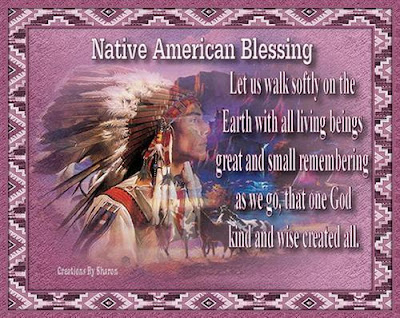 american native  saying blessings to you