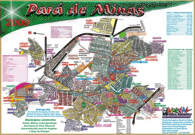 Planta Catográfica Oficial Pará de Minas