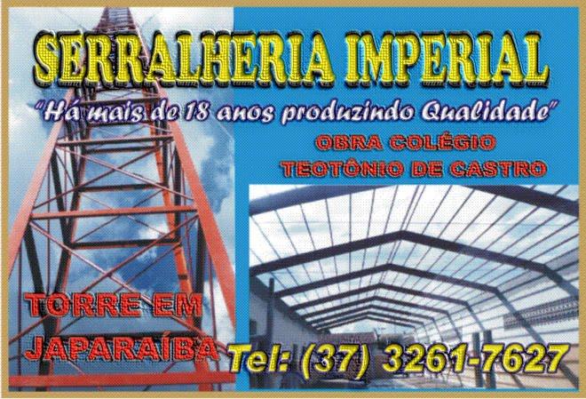 ***  Serralheria Imperial - (37) 3261-7627  ***