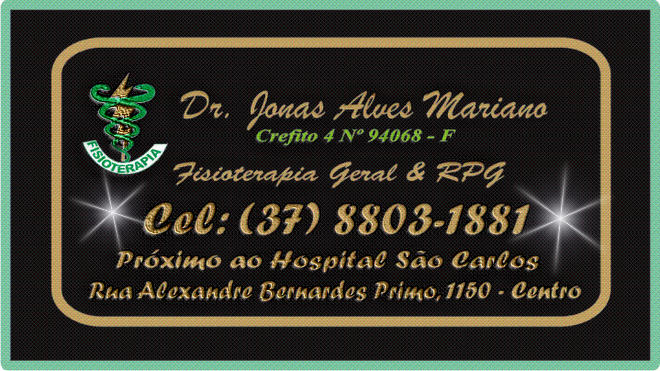 Dr Jonas Alves Mariano - Fisioerapeuta