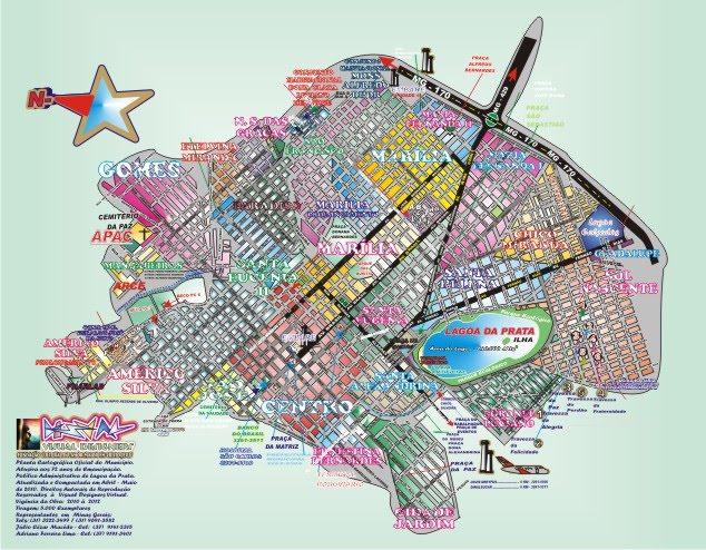 Mapa de Lagoa da Prata