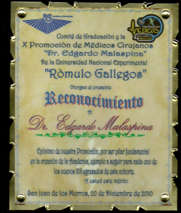 PLACA DE RECONOCIMIENTO