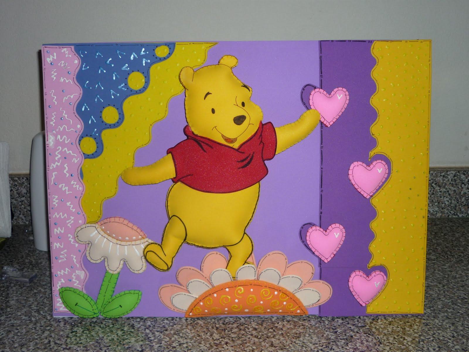 Cuadro de Winnie Pooh en tercera dimension (relleno)