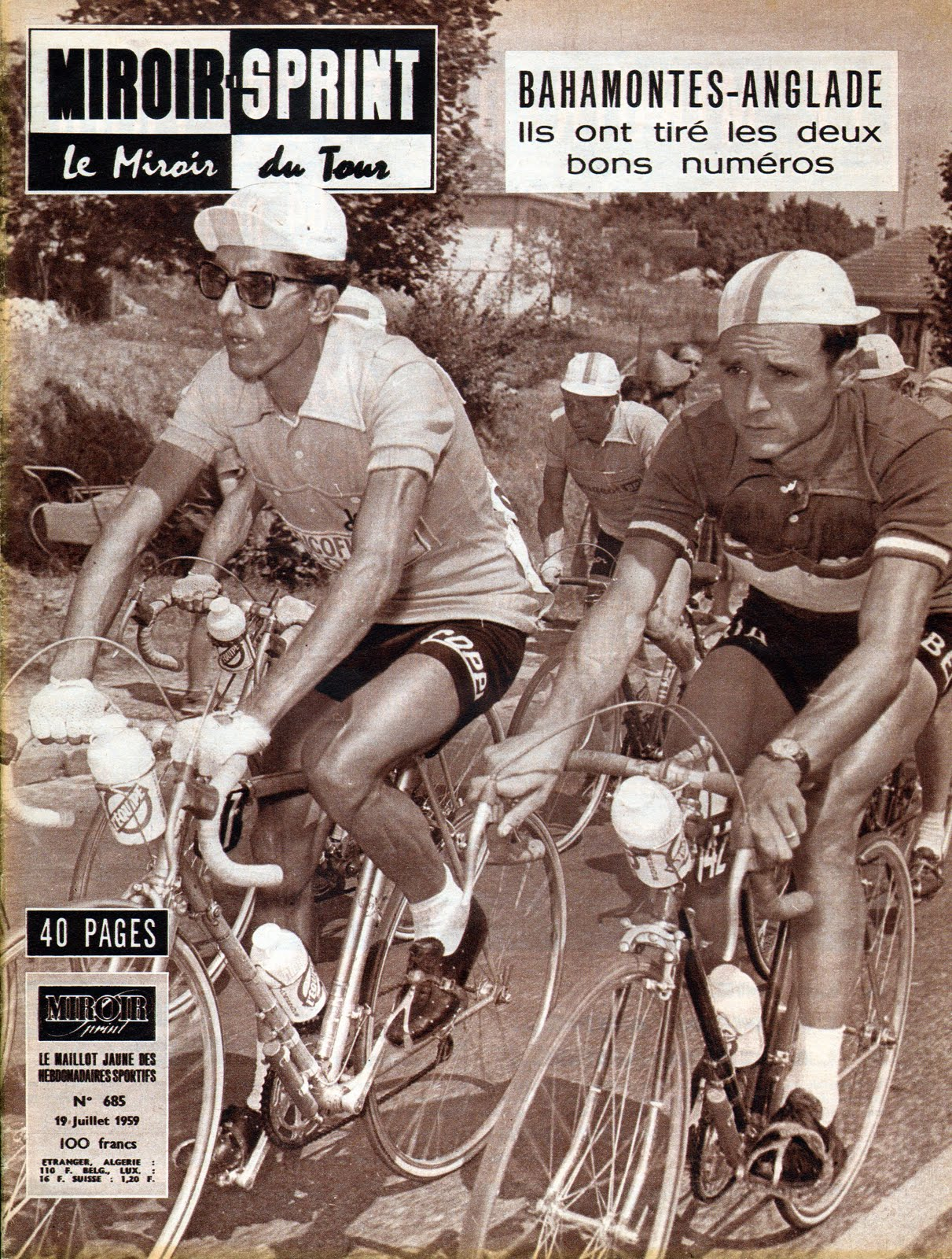 Mon tour de france 1959 la suite miroir sprint retour for Miroir du cyclisme