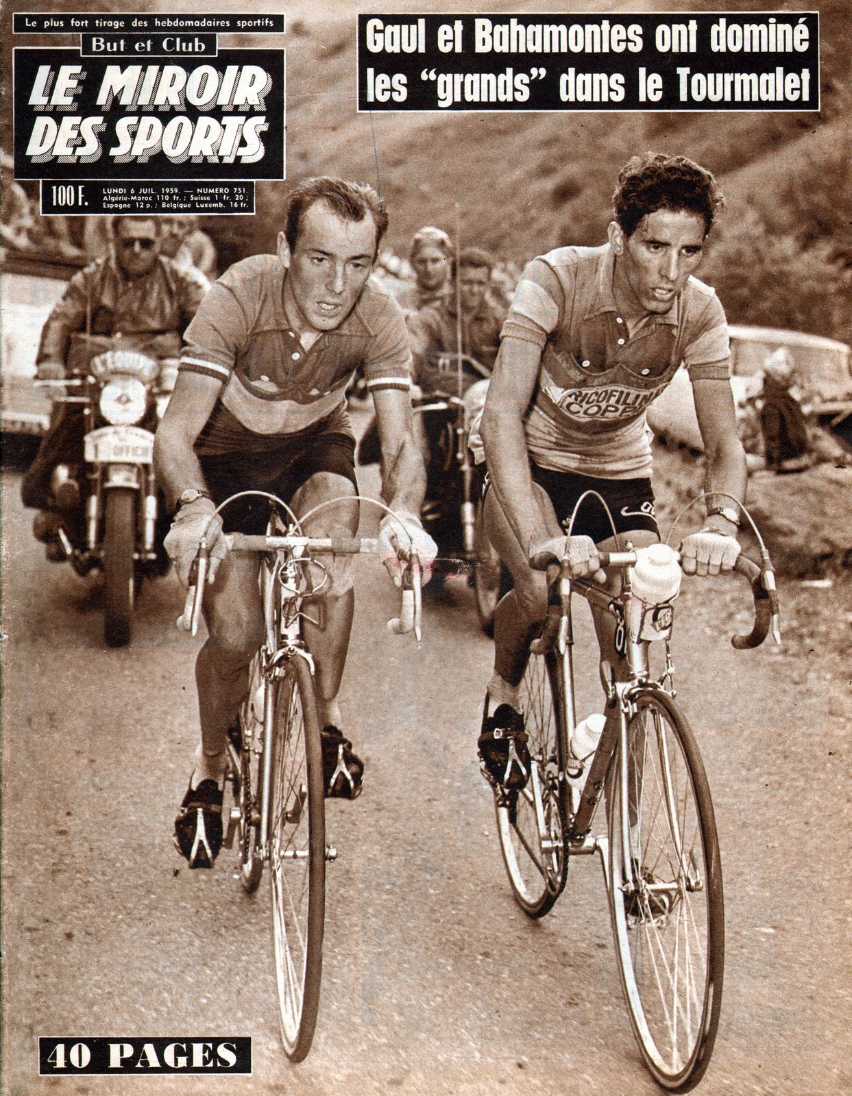 Mon tour de france 1959 la suite miroir des sports for Miroir des sports
