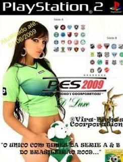 PES 2009: DLuxe Brasileirão Séries A e B   PS2