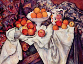Bodegón con manzanas y naranjas
