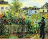 Monet pintando en su jardín de Argenteuil