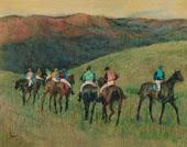 Caballos de carreras en un paisaje