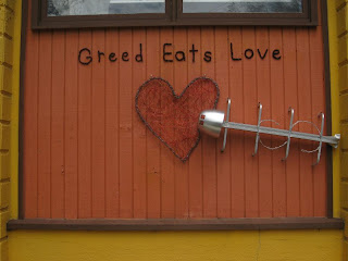 Greed eats love