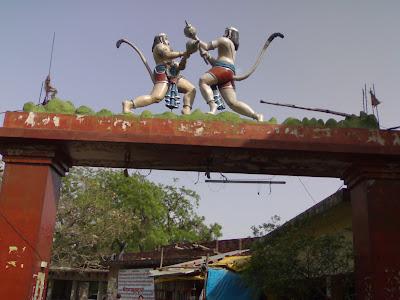 Famous Hanuman Garhi Temple Gate