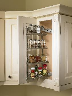 Kitchen Upper Cabinet Pull-Out Organizer | KitchenSource.com