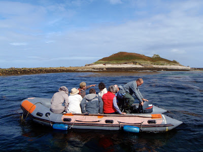 starting the inflatable boat to Nornour