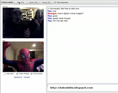 spiderman chat, chatroulette, spiderman